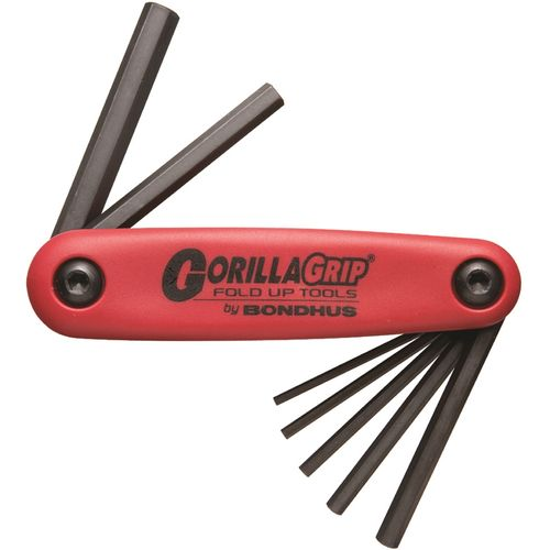 Bondhus Gorillagrip Fold Up Hex Key Set  7pc Metric