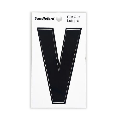 Sandleford 85mm V Black Cut Out Self Adhesive Letter