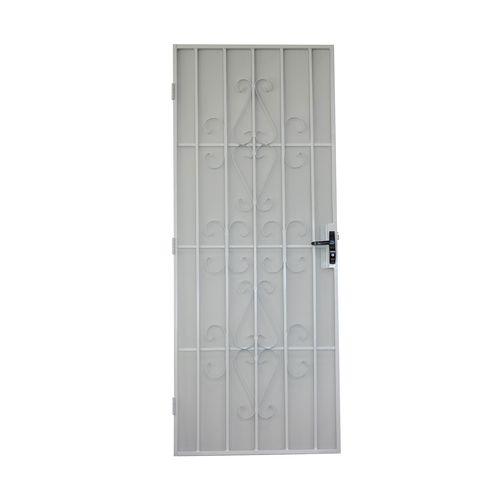 Bastion 2032 x 813mm Gloss White Catalina Metric Steel Frame Screen Door