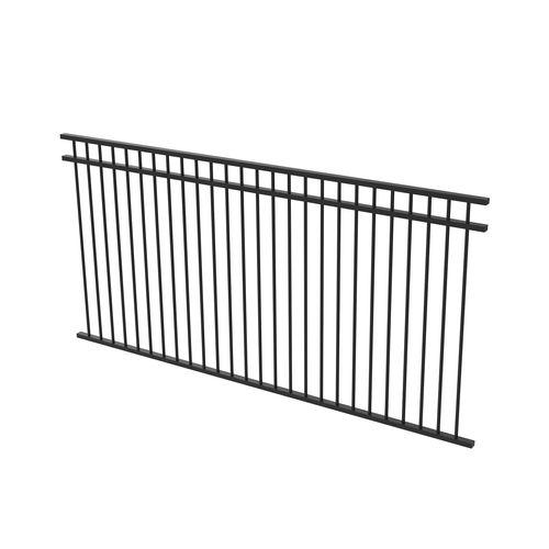 Protector Aluminium 2450 x 1200mm Double Top Rail All Up Ulti-M8 Fence Panel - Satin Black