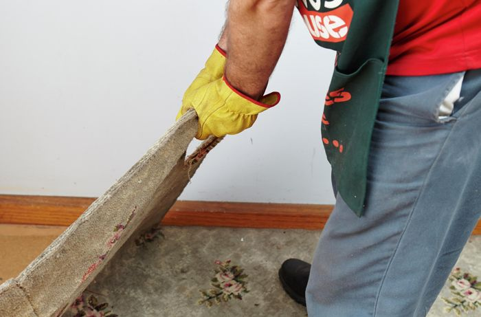DIY Step Image - How to remove carpet . Blob storage upload.