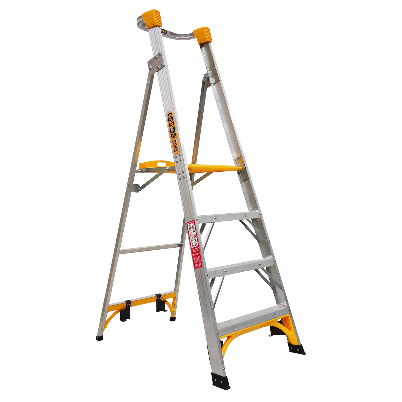 Gorilla 1.2m 150kg Aluminium Platform Ladder