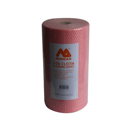Morgan 60 x 30cm All Purpose Wipes On a Roll - 100 Pack