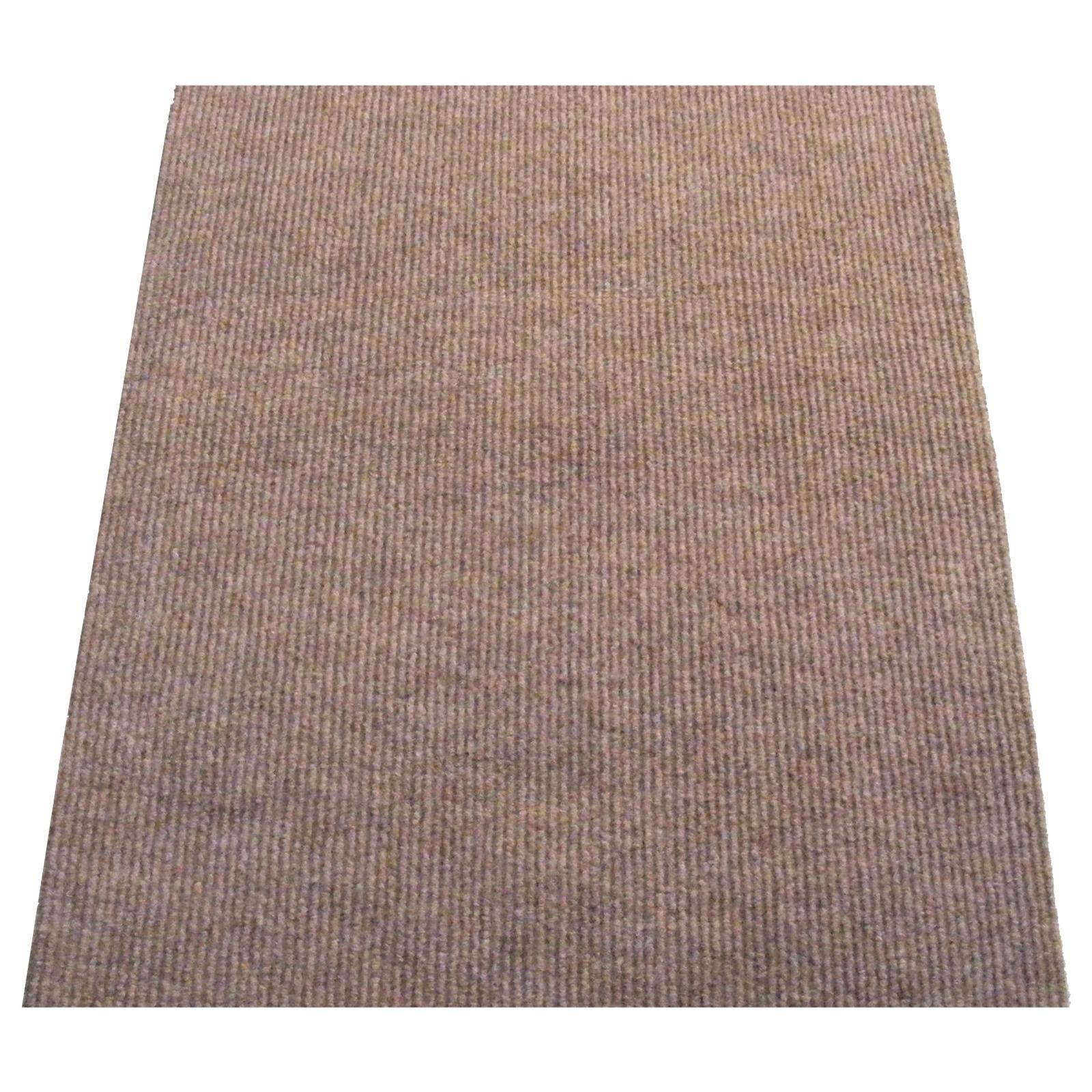 Ideal DIY 67cm Beige Oxford Ribbed Carpet Runner - Linear Metre