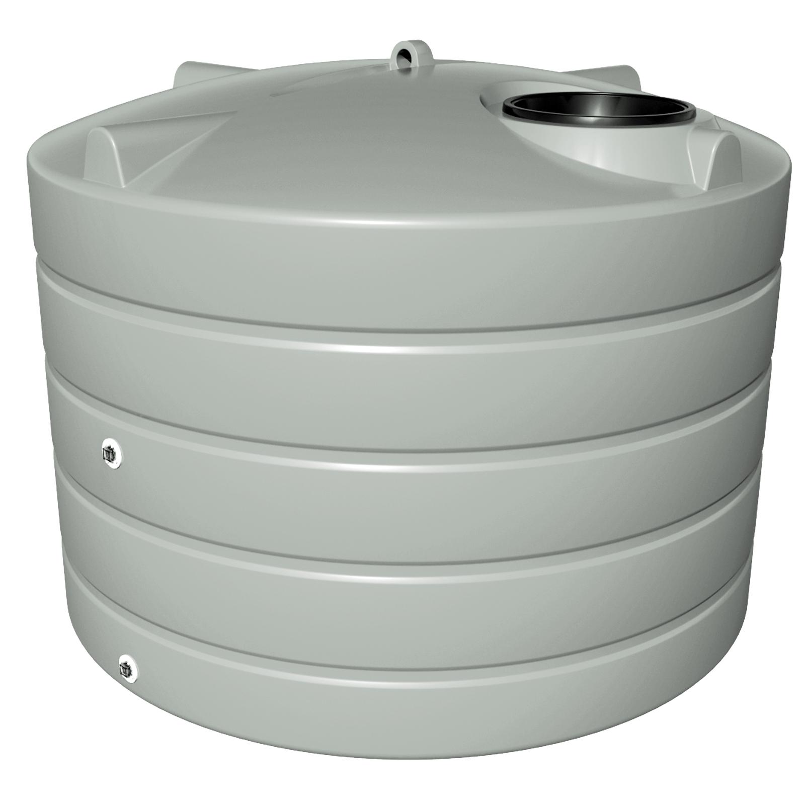 NextGenRoto 3150L Polyethylene Squat Round Water Tank - Gull Grey
