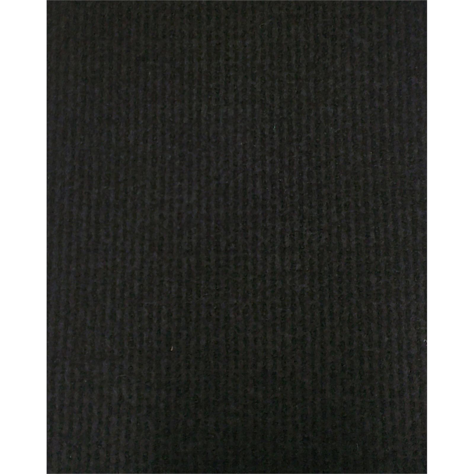 Ideal DIY Floors 2m Black Deco Ribbed Foambak Indoor Carpet