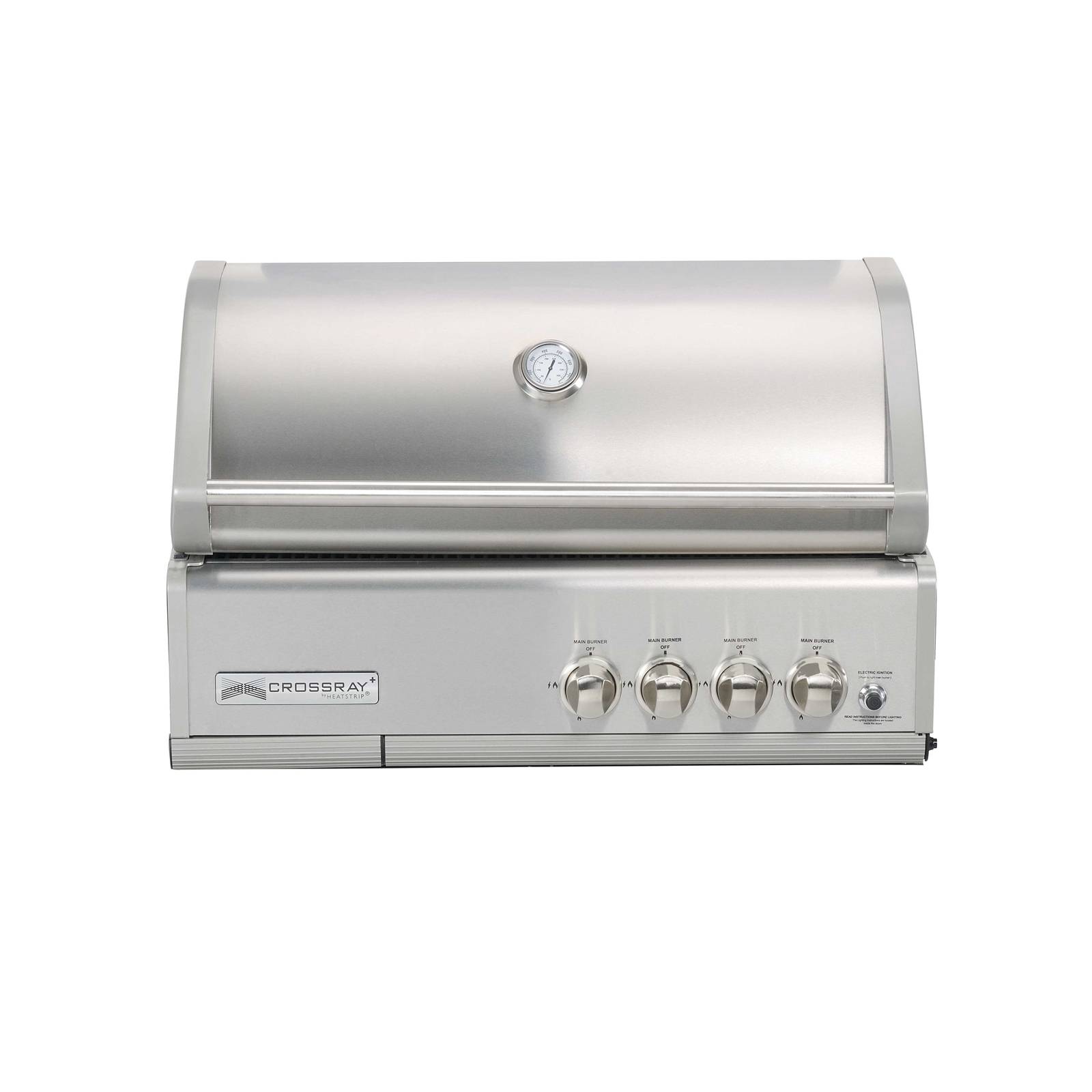 Crossray Stainless Steel 4 Burner In Built Infrared BBQ