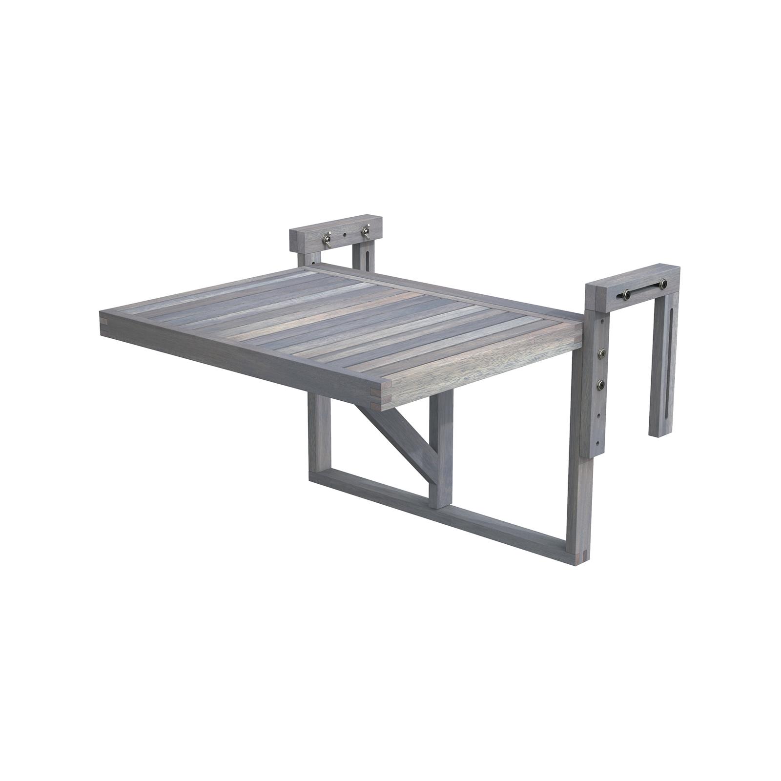 Interbuild 60 x 45cm Dusk Grey Stockholm Folding Balcony Table