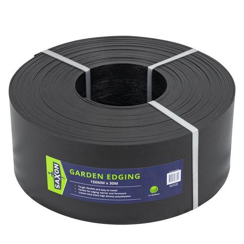 Saxon 150mm x 30m Black Garden Edge