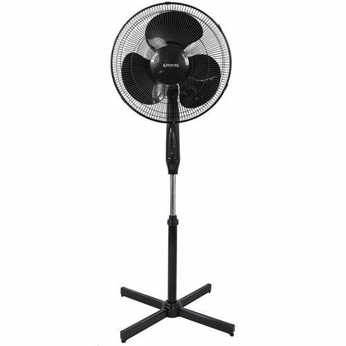 Euromatic 40cm Black Pedestal Fan With Remote