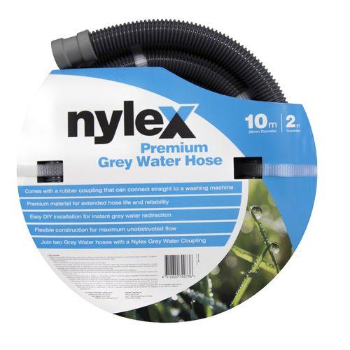 Nylex 22mm x 10m Premium Grey Water Chief Hose