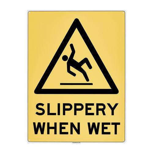 Sandleford 450 x 600mm Slippery When Wet Plastic Sign