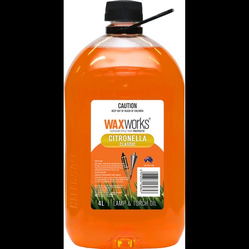 Waxworks Citronella Scented Lamp Oil - 4L