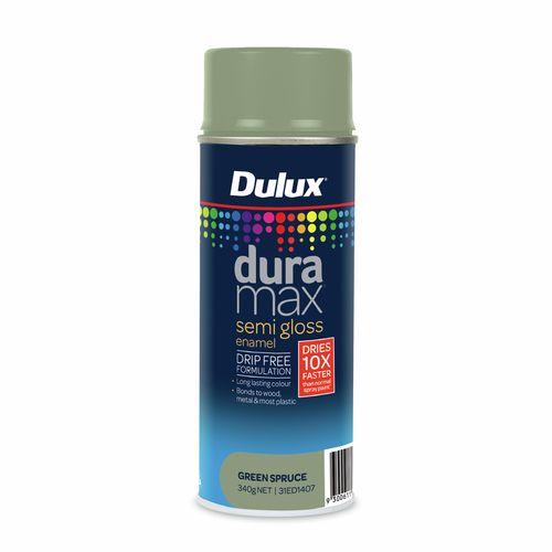 Dulux 340g Duramax Semi Gloss Green Spruce Spray Paint