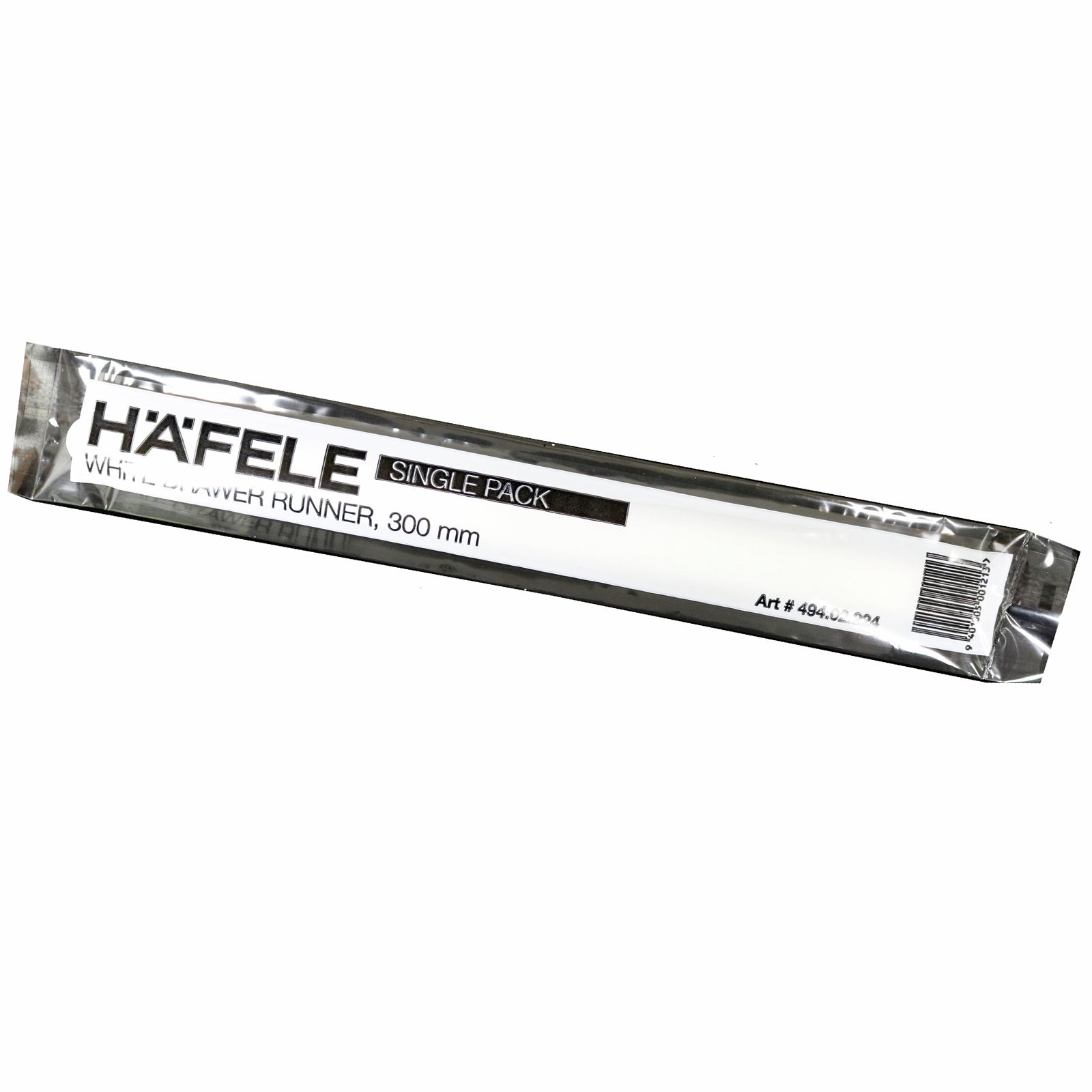 Hafele White Plastic Drawer Runner