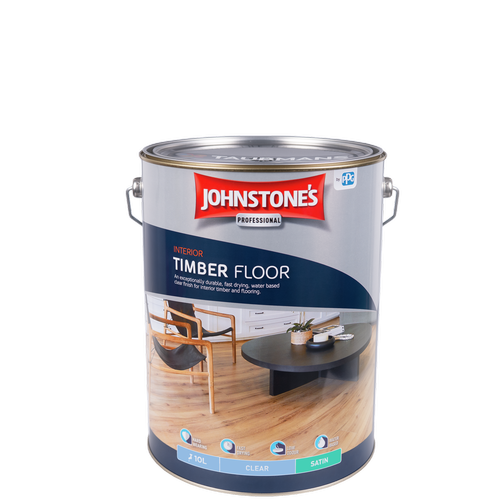 Johnstone's 10L Clear Satin Interior Timber Floor Finish