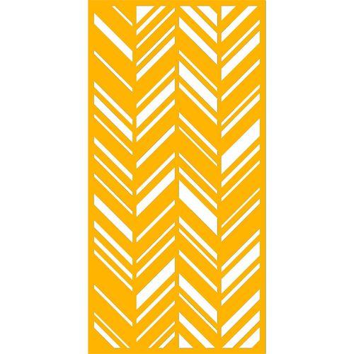 900 x 1200mm ACP Profile 30 Decorative Unframed Panel - Dark Yellow