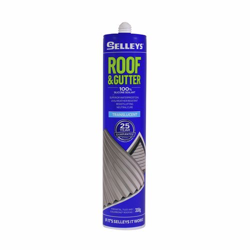 Selleys 310g Roof And Gutter Silicone Sealant - Translucent