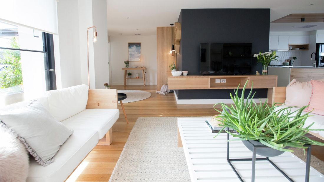 DIY Step Image - How to create an open plan living room . Blob storage upload.