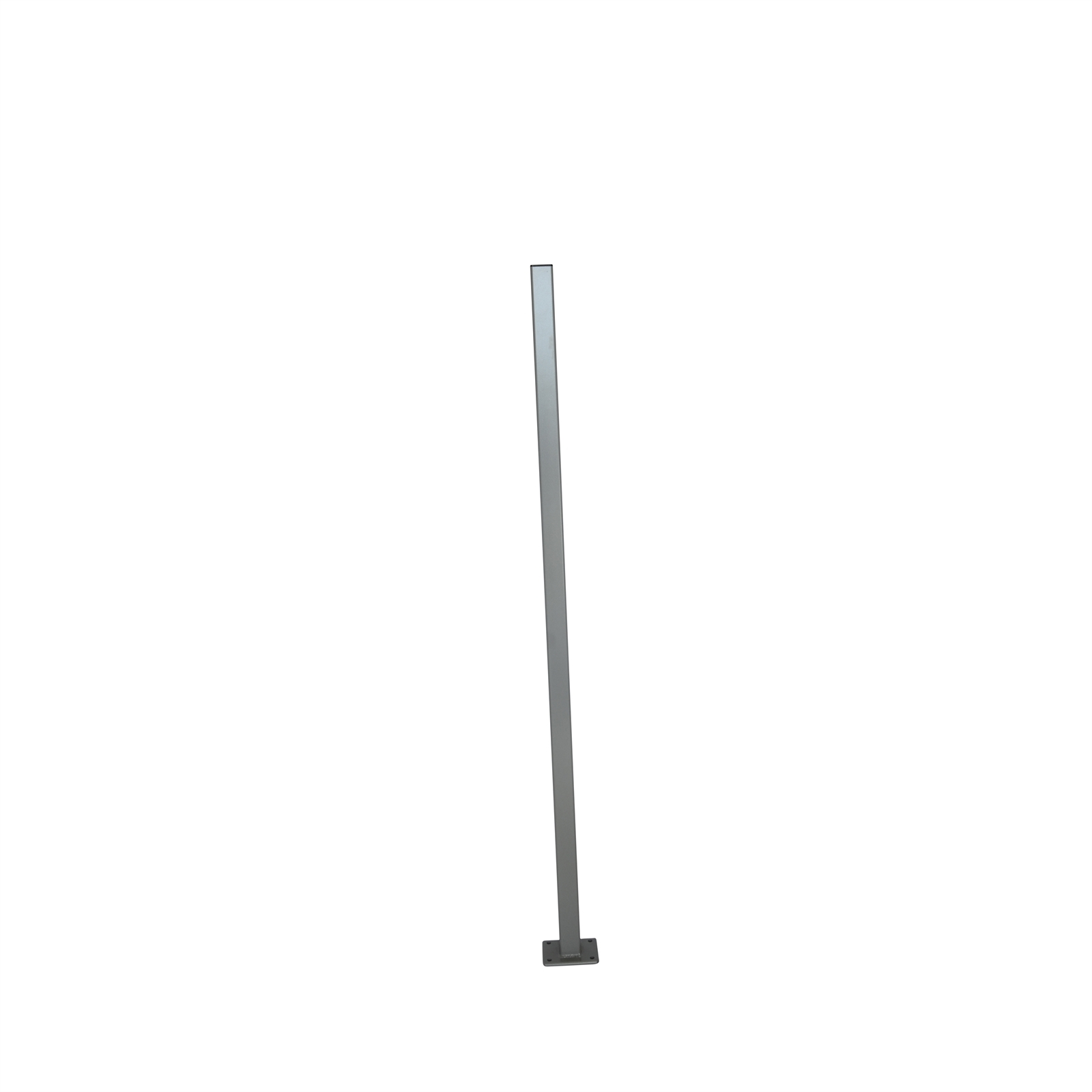 Protector Aluminium 50 x 50 x 1300mm Palladium Silver Flanged Fence Post With Cap
