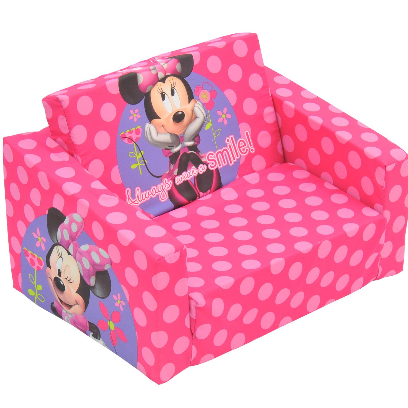 Disney Minnie Mouse Kids Flip Out Sofa