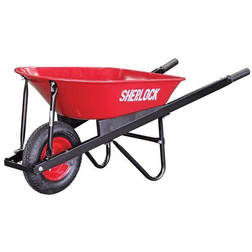 Sherlock 80L Home Use Steel Tray Wheelbarrow