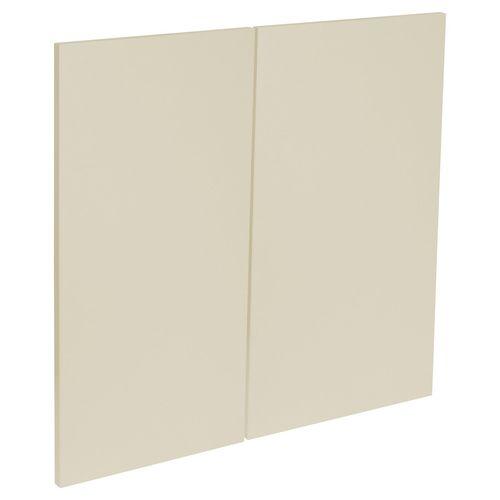 Kaboodle 600mm Modern Rangehood Cabinet Door - 2 Pack - Mocha Latte