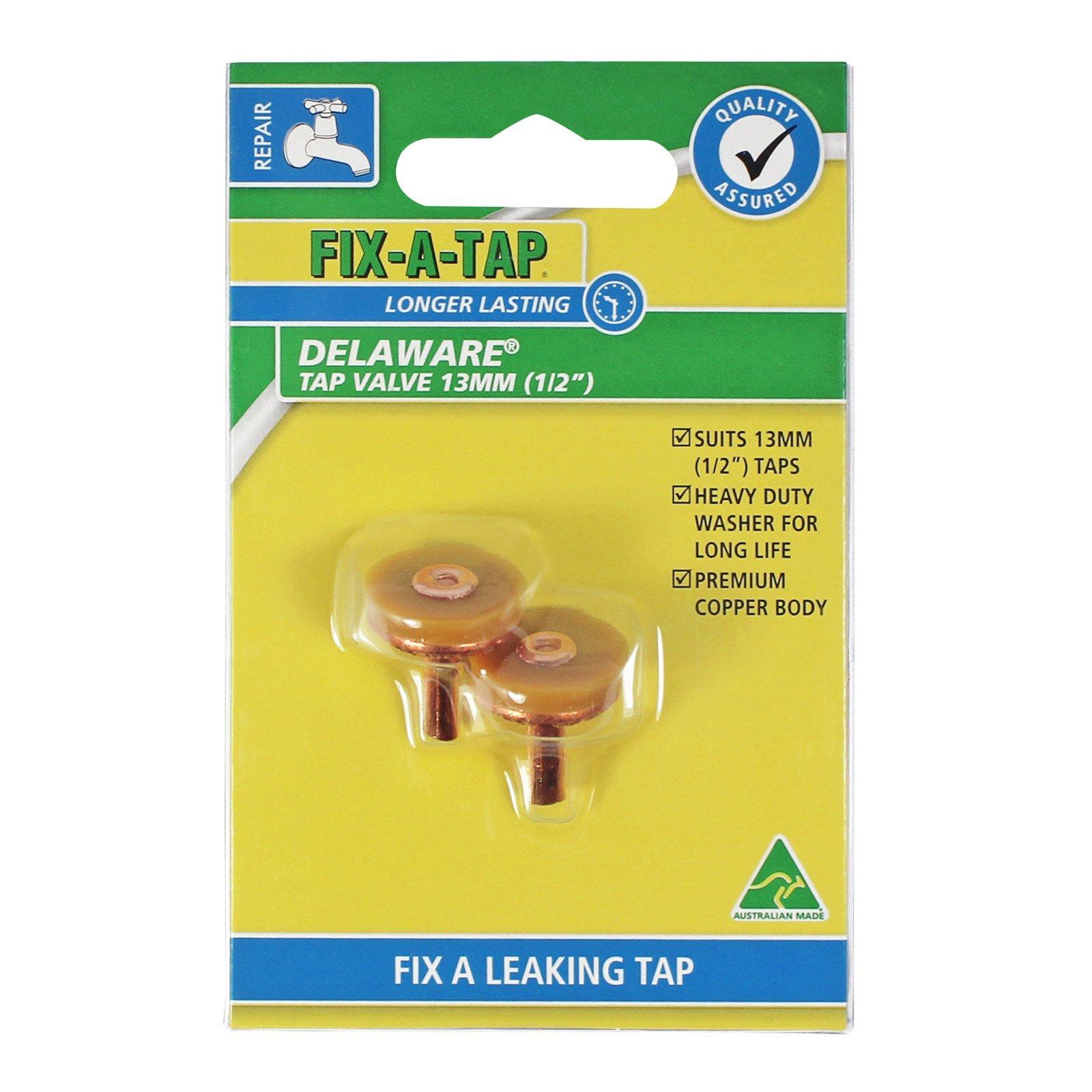 FIX-A-TAP 13mm Delaware Tap Valve - 2 Pack