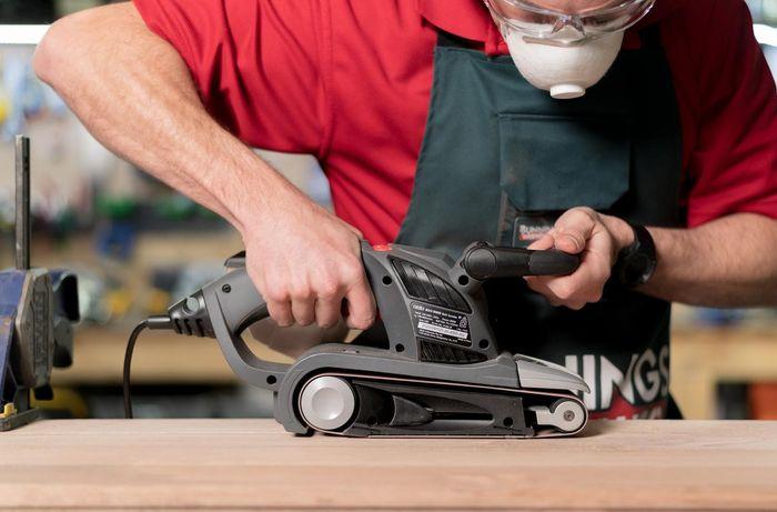 TM using a power sander