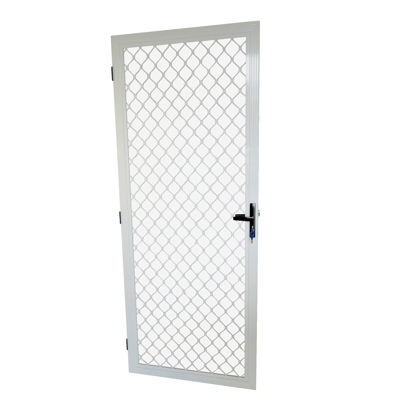Protector Aluminium 813 x 2032mm White Metric Fixed Barrier Door