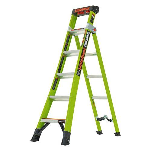 Little Giant 3 In 1 King Kombo 6 Step Fibreglass Industrial Ladder