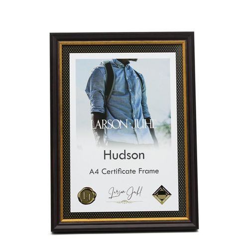 Hudson A4 Dark Chocolate Slim Certificate Frame