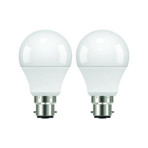 Luce Bella 8W Cool White A60 LED B22 Globe – 2 Pack