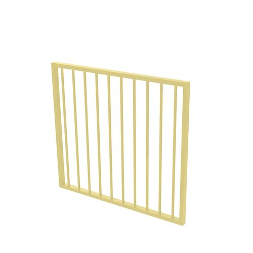 Protector Aluminium 975 x 900mm Flat Top Garden Gate - To Suit Self Closing Hinges - Primrose