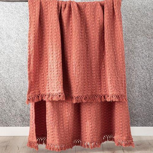 Renee Taylor Alysian Washed Cotton Textured Brick Throw