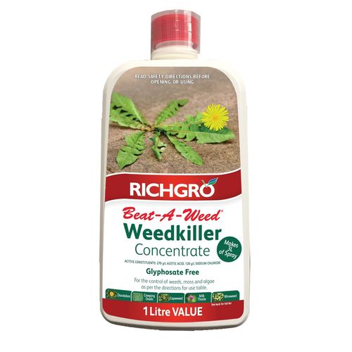 Richgro 1L Beat-A-Weed Natural Weedkiller Concentrate Refill