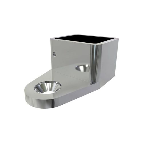 Architects Choice Mirror Polish Stainless Steel Friction Fit Handrail Wall Bracket