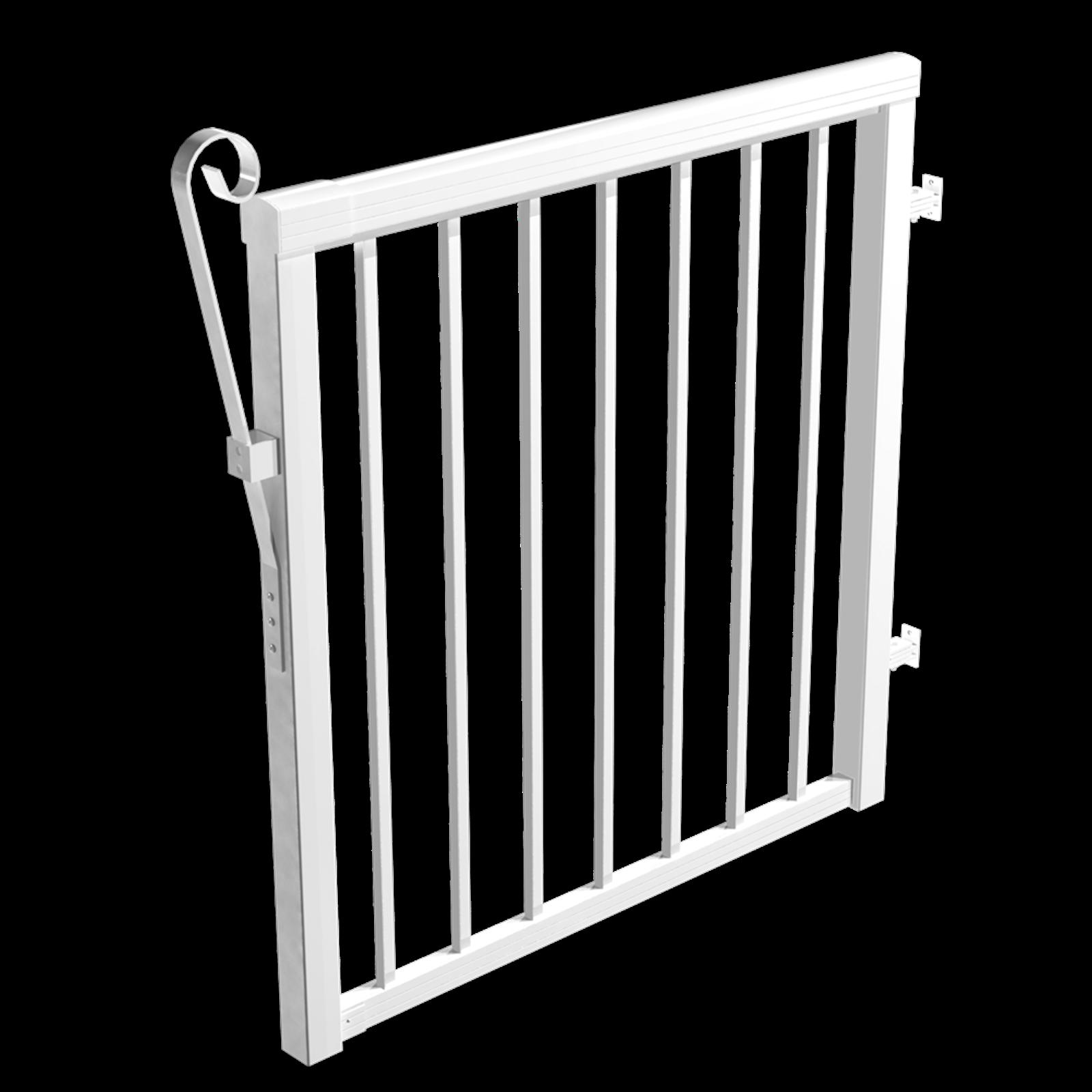 Peak 1000mm Aluminium Balustrade Standard Baluster Gate Kit