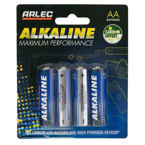 Arlec AA Alkaline Battery 4pk