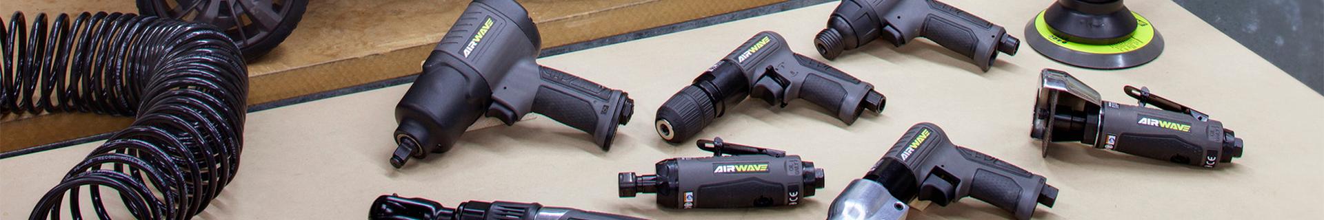 Ryobi Airwave tools on ground.