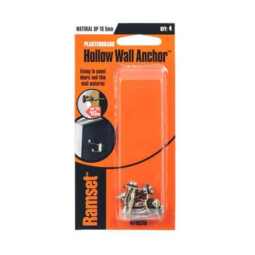 Ramset 5mm Hollow Wall Anchor - 4 Pack