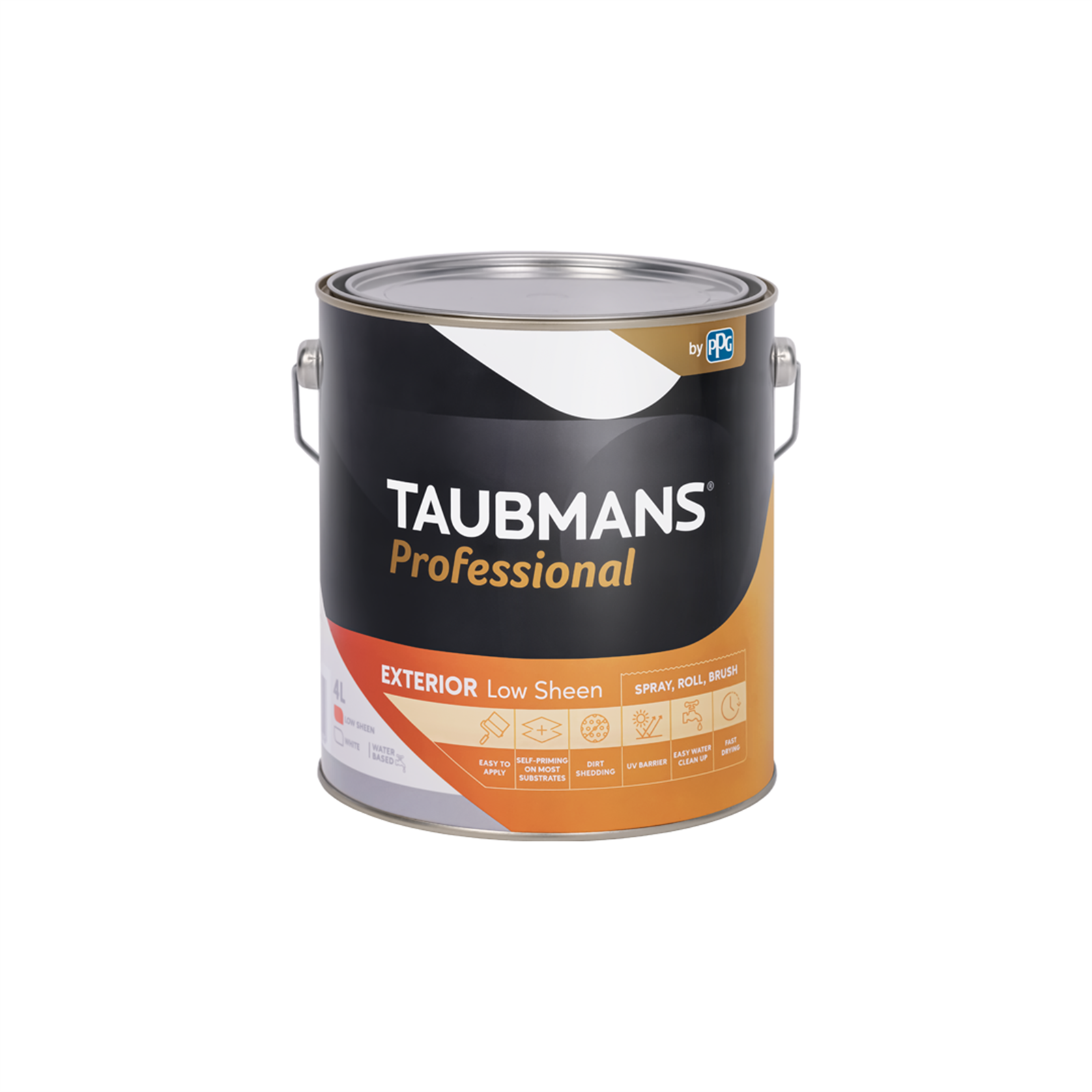 Taubmans Professional White Low Sheen Exterior Paint