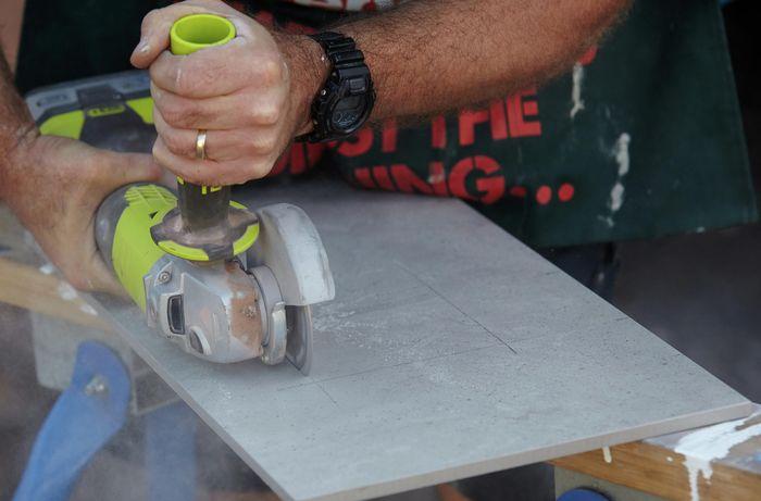 DIY Step Image - How to lay floor tiles . Blob storage upload.