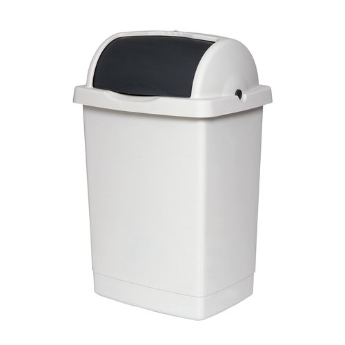 Willow 25L White/Charcoal Roll Top Bin