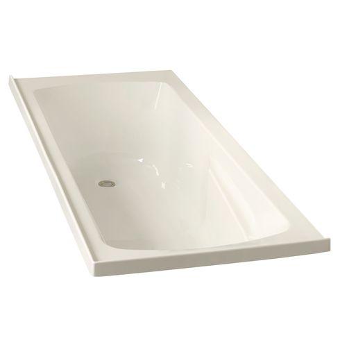 Clearlite Bathrooms 1655 x 470 x 420mm White Bath Matisse with Overflow