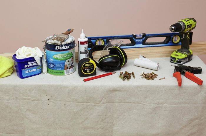 A range of tools required to complete this project