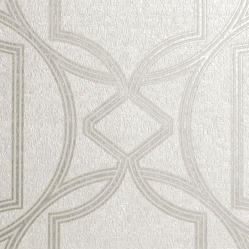 Boutique 1/2m Deco Geo Ivory  Wallpaper Sample