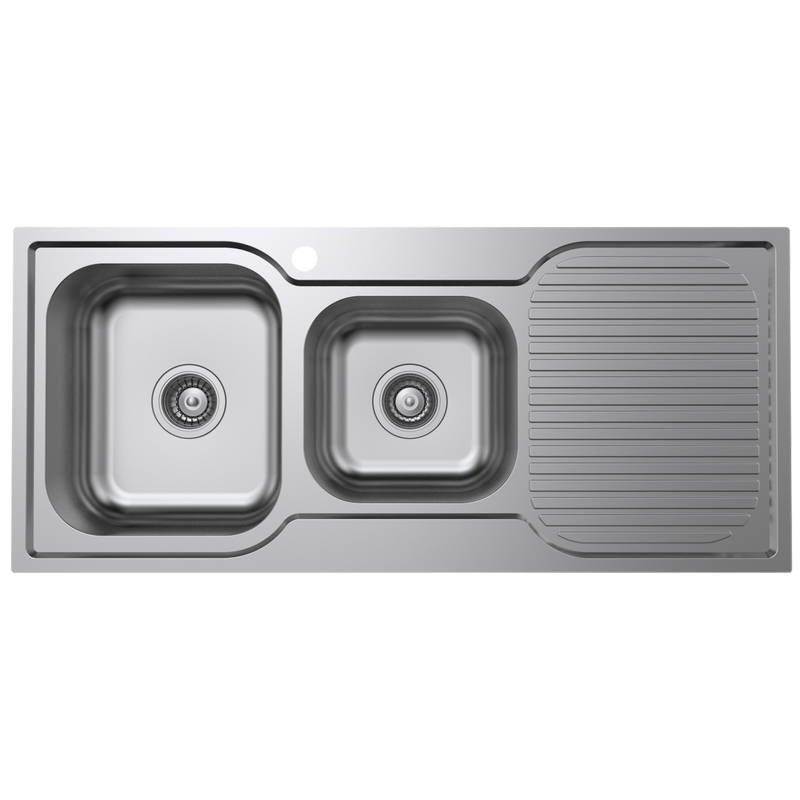 Cadenza 1080mm Stainless Steel 1 & 3/4 Left Hand Sink With Drainer
