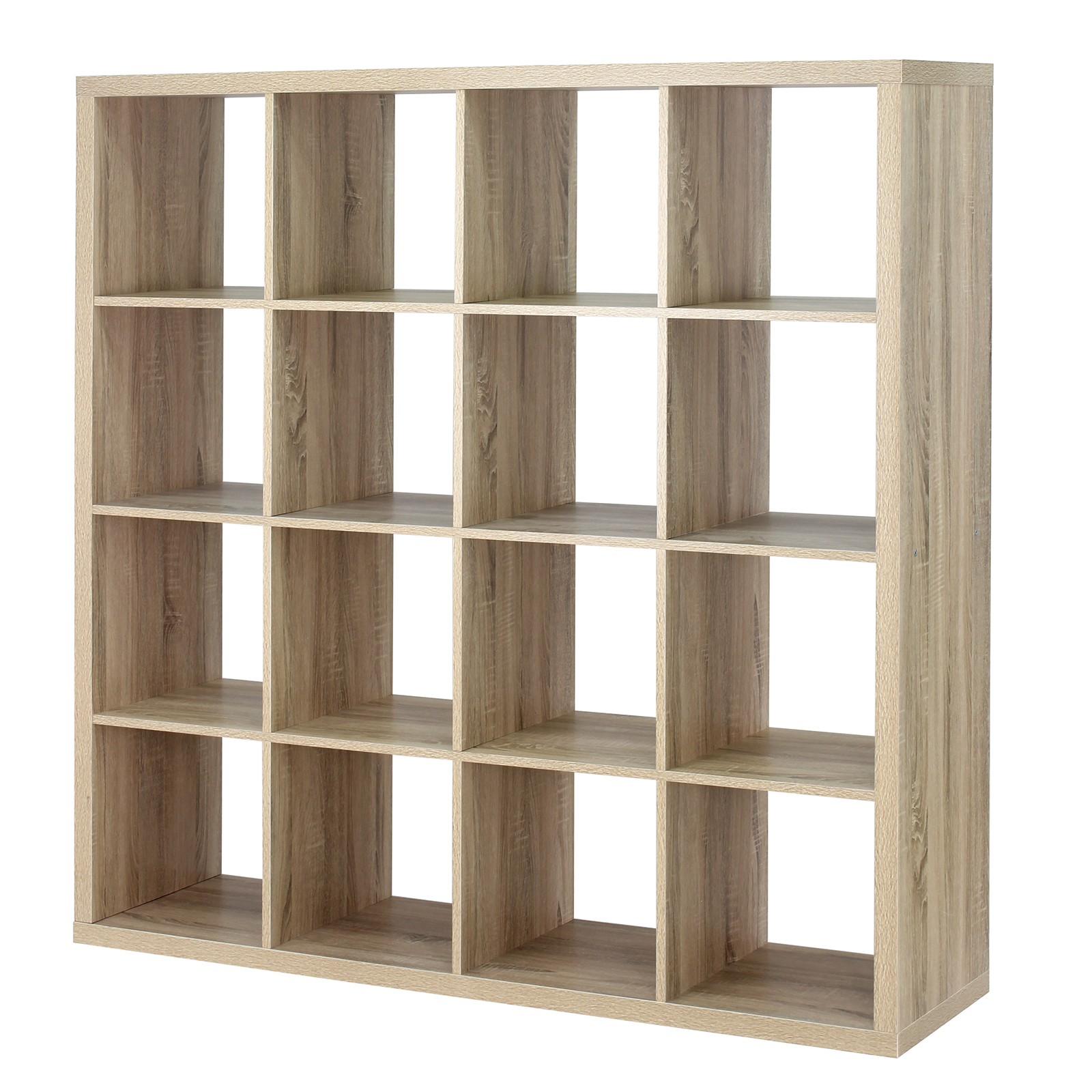 Flexi Storage 146 x 39 x 146cm Clever Cube 4 x 4 Storage Unit - Oak