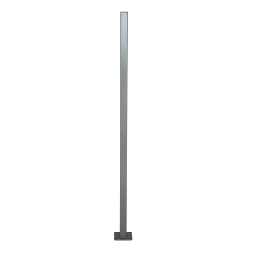 Protector Aluminium 50 x 50 x 1600mm Palladium Silver Flanged Fence Post With Cap